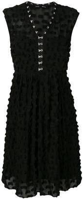 Proenza Schouler sleeveless textured appliqué dress