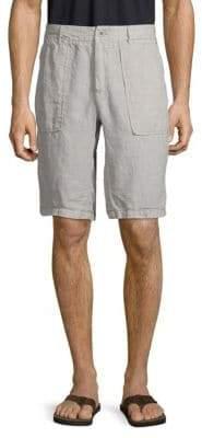 Jet Lag Buttoned Linen Shorts