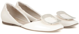Roger Vivier Chips patent leather ballet flats