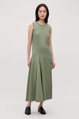 Cos SLEEVELESS COTTON-RIB DRESS