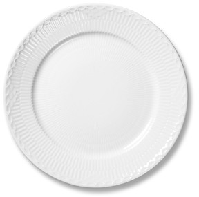 White Fluted Half Lace Dinner Plate