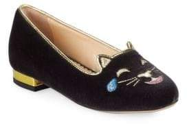 Charlotte Olympia Kid's Incy LOL Kitty Loafers