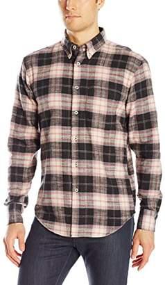Naked & Famous Denim Men's Brushed Vintage Plaid Button Down Shirt