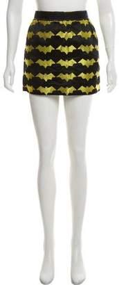 Luella Printed Mini Skirt