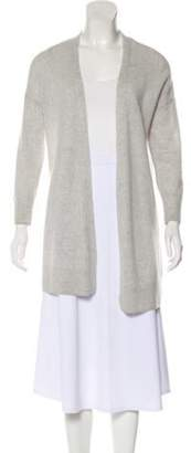 Saks Fifth Avenue Open Front Lightweight Cardigan grey Open Front Lightweight Cardigan