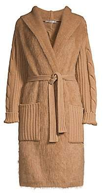 Max Mara Women's Wool & Cashmere Cable-Knit Wrap Cardigan