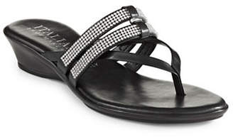 Italian Shoemakers Jewel Thong Slide Sandals