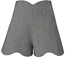 Paper London Fraise Scallop Trim Shorts