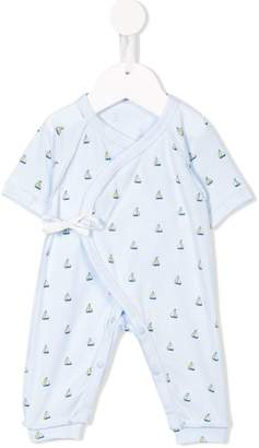 Familiar sailing boat print romper