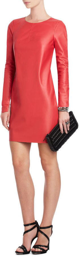 BCBGMAXAZRIA Jillea Faux-Leather Dress