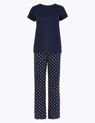 Marks and Spencer Star Print Short Sleeve Pyjama Set