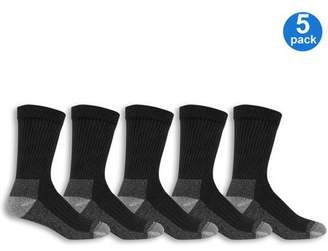 Fruit of the Loom Men's Big & Tall Workgear Cushioned Crew Sock 5 Pack