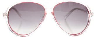 Matthew Williamson Linda Farrow x Clear Aviator Sunglasses