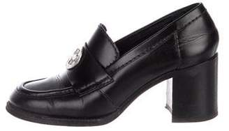 Chanel Leather Round-Toe Loafer Pumps