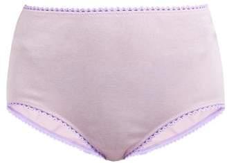 Araks Mabel High Rise Cotton Briefs - Womens - Light Pink