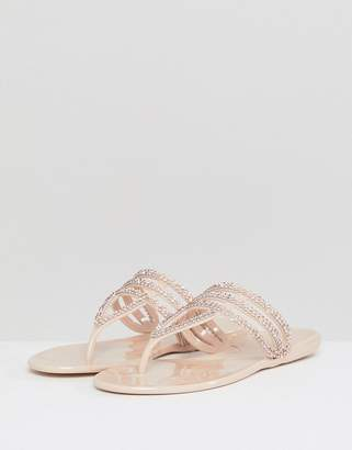 Nika Raid Embellished Toe Post Sandals