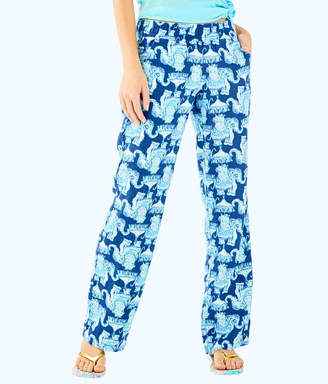 "Lilly Pulitzer Womens 33"" Florita Linen Pant"