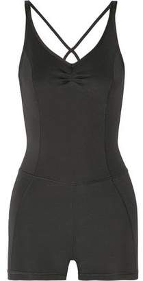 Purity Active Cropped Mesh-Paneled Stretch Unitard