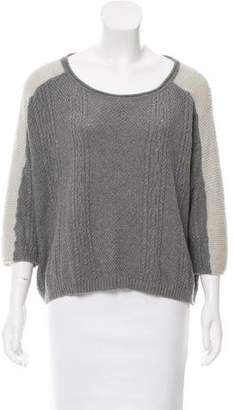 Ella Moss Cable Knit Three-Quarter Sleeve Sweater
