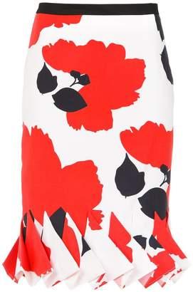 Reinaldo Lourenço floral pencil skirt