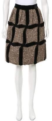 Marc Jacobs Wool Velvet-Trimmed Skirt