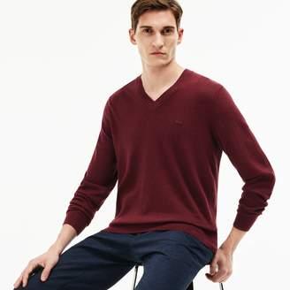 Lacoste Men's Ribbed V-Neck Sweater
