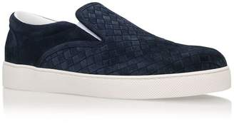 Bottega Veneta Suede Dodger Slip-On Sneakers