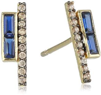 Tai Montana Pave Stick Earrings