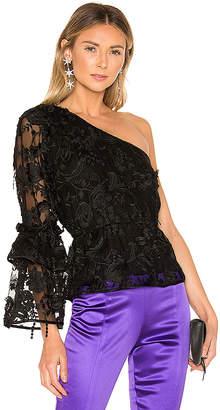 ee3bb18e1e0 Cynthia Rowley Ruffle Sleeve Lace Top