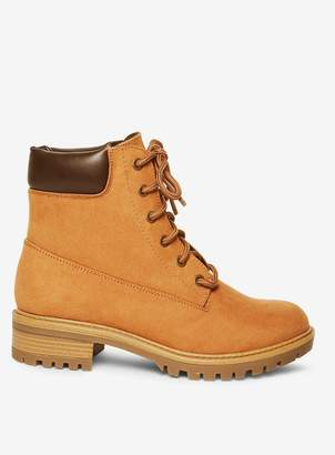 Dorothy Perkins Tan Malmo Hiker Boots