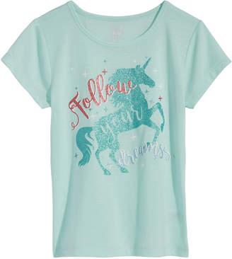 Max & Olivia Unicorn Graphic-Print Pajama Top, Little Girls & Big Girls