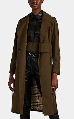 Burberry Women's Cotton Gabardine Trench Coat - Olive