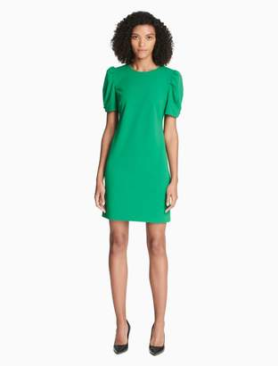 Calvin Klein puff short sleeve dress