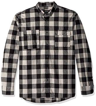 Zanerobe Men's Cotton Boxy Rugger Flannel Long Sleeve Shirt