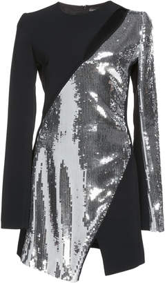 David Koma Chest Cutout Sequin Mini Dress