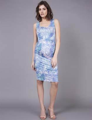 A Pea in the Pod Seraphine Palm Print Maternity Dress