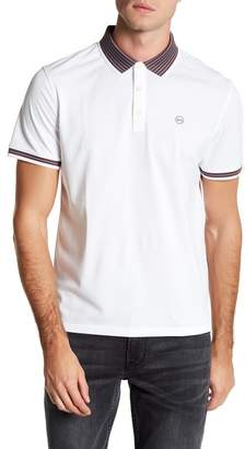 AG Jeans SSQ Short Sleeve Contrast Stripe Detail Polo