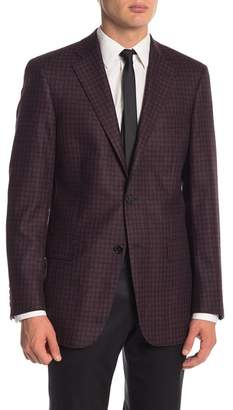 Hart Schaffner Marx Rust Check Two Button Notch Lapel Classic Fit Blazer