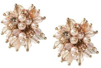 Banana Republic Blush Beaded Cluster Statement Stud Earring
