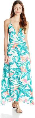 MinkPink Women's Panama Palms Maxi Dress Cover Up