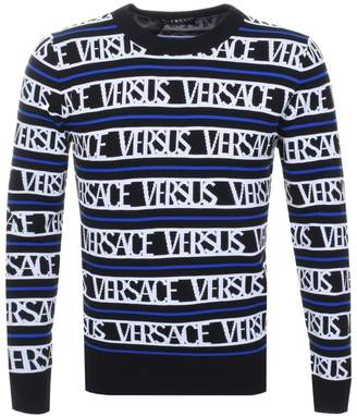 Versace Logo Knit Jumper Black
