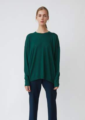 6397 Cashmere Pointelle Crewneck Sweater