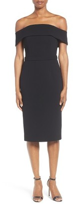 Women's Boss Diany Off The Shoulder Bonded Crepe Cocktail Dress $1,095 thestylecure.com