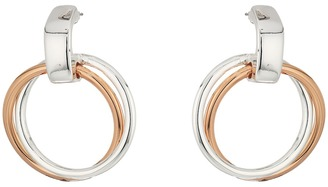 LAUREN Ralph Lauren - Stereo Hearts Small Double Link Doorknocker Earrings Earring $32 thestylecure.com