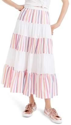 J.Crew French Creek Mixy Stripe Skirt