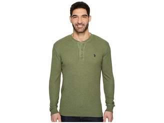 U.S. Polo Assn. Long Sleeve Thermal Henley Shirt Men's Long Sleeve Pullover