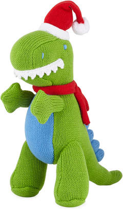 Zubels Knit Christmas T-Rex Doll, 12