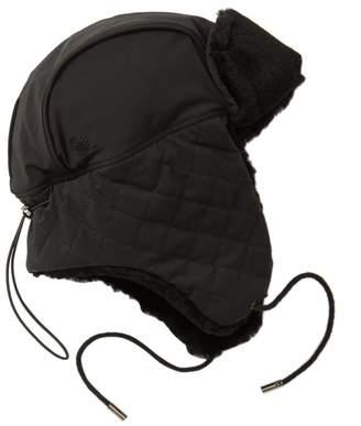 UGG Quilted Genuine Fur Trimmed Trapper Hat