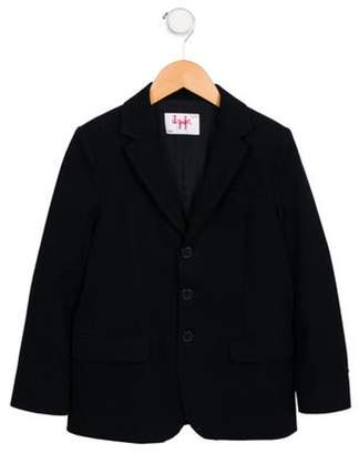 Il Gufo Girls' Fleece Notch-Lapel Blazer navy Girls' Fleece Notch-Lapel Blazer