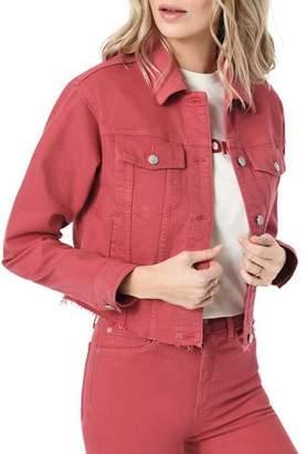 Joe's Jeans The Crop Frayed Denim Jacket